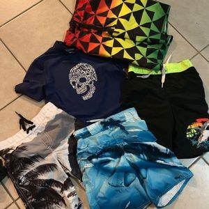 Boys swim suit and shirt Lot Size 8